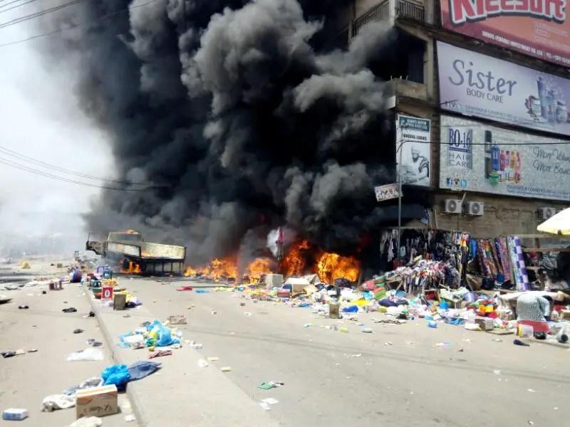 Kumasi Market Fire: Minister Orders Arrest of Careless truck driver