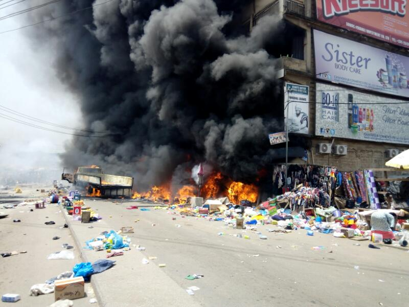 PICTURES:Latest Kumasi Central Market Fire