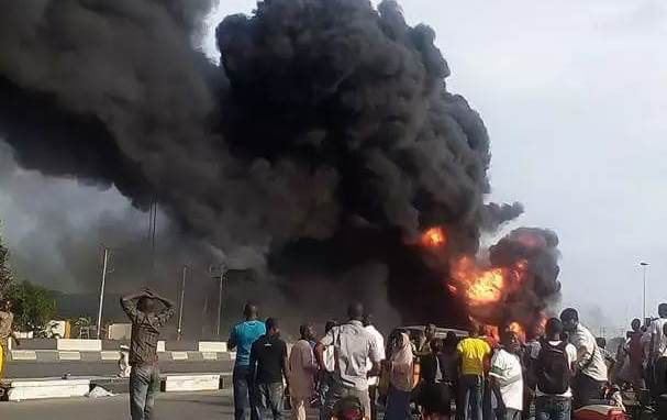 E/R: Fuel tanker explosion injures six