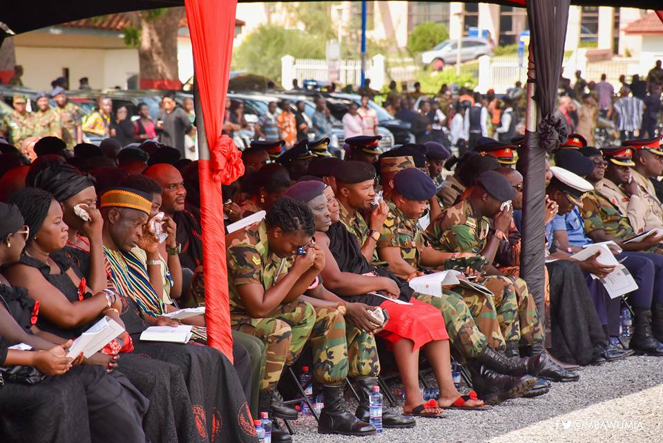 PHOTOS: 10 heartbreaking images at late Major Mahama's Funeral