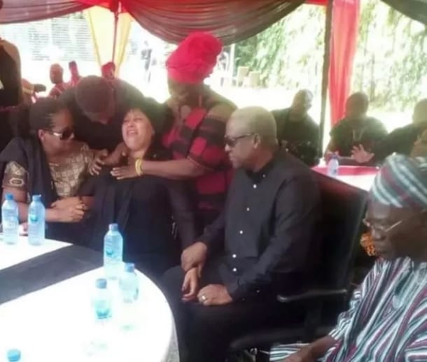 Captain Mahama's mum storms town; weeps uncontrollably at one week observation