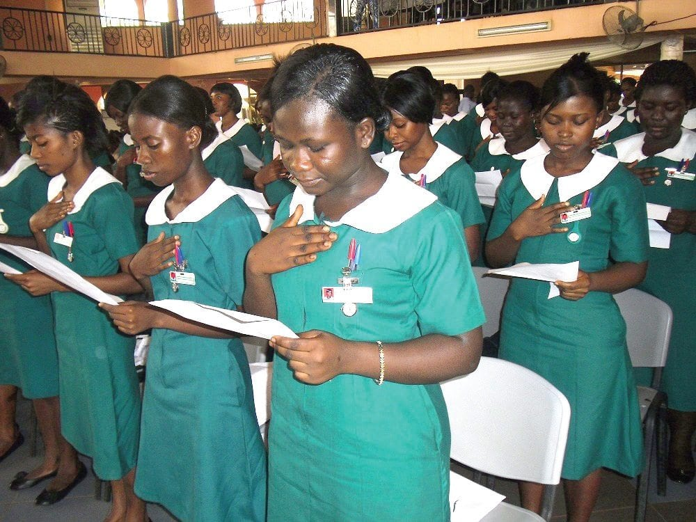 Don't allow childbirth and marriage to hinder your education-Trainee nurses advised