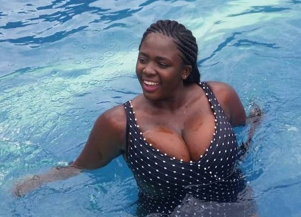 Photos: Tracey Boakye cooling off in Dubai