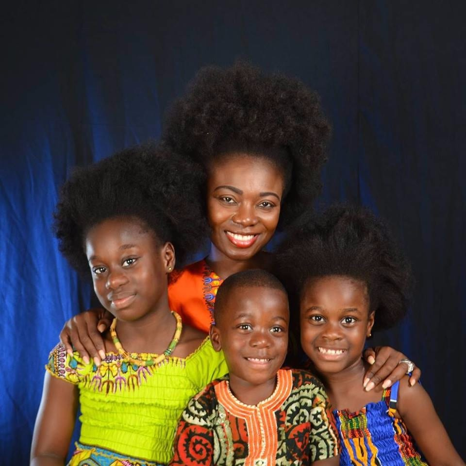 Stacy Amoateng flaunts her family