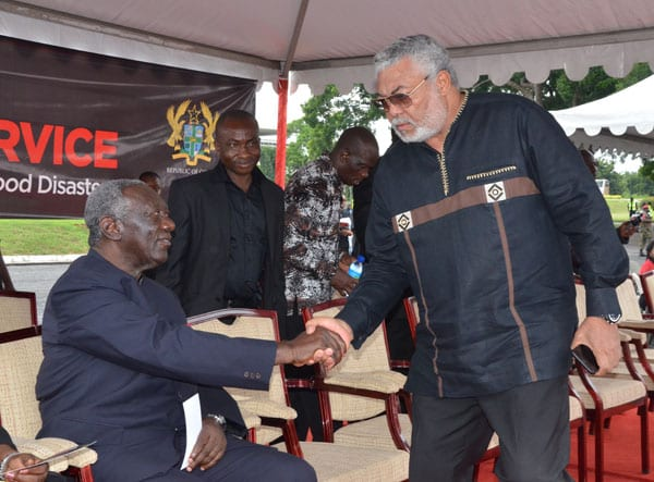Rawlings agrees with Kufuor for the first time