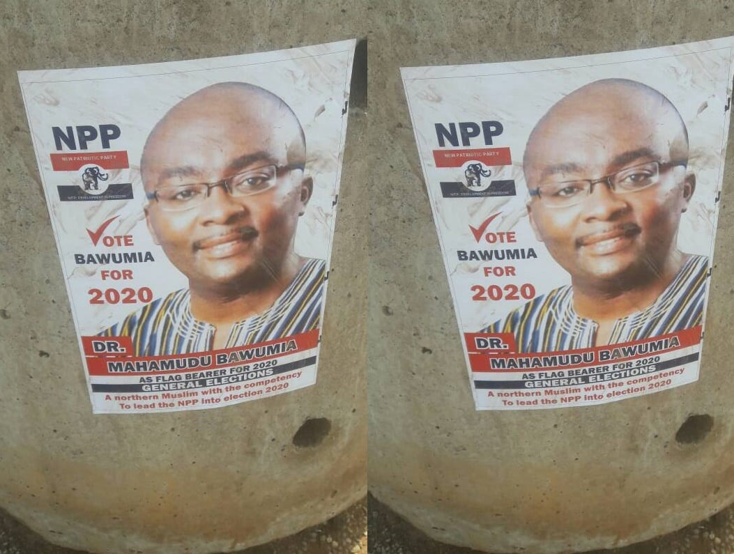 Bawumia's 2020 campaign posters pop up in Tamale