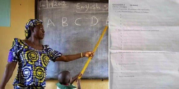See the questions for class 4 pupils over 20,000 Nigerian teachers failed to pass