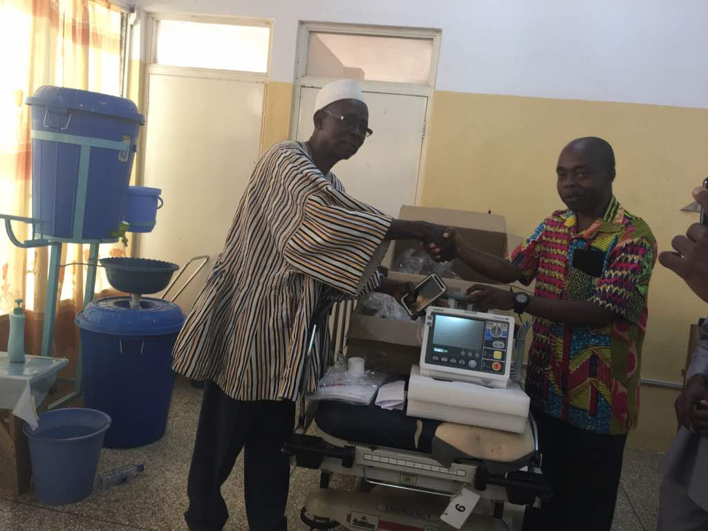 US based philanthropists donate defibrillator to Bolgatanga Regional Hospital