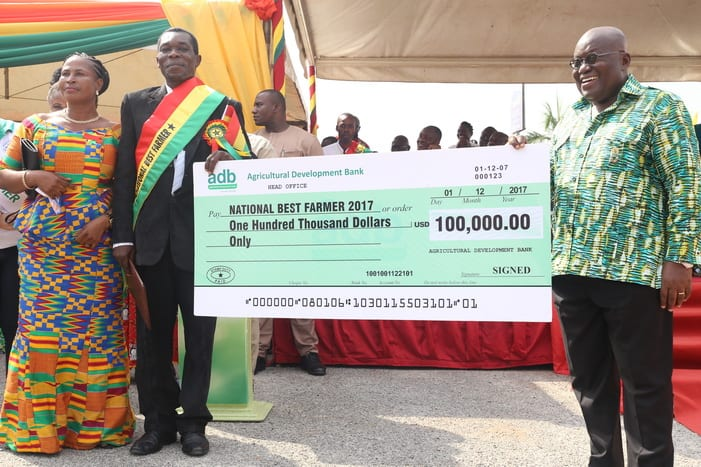 I don't know what to do with my $100,000 price reward-National Best Farmer