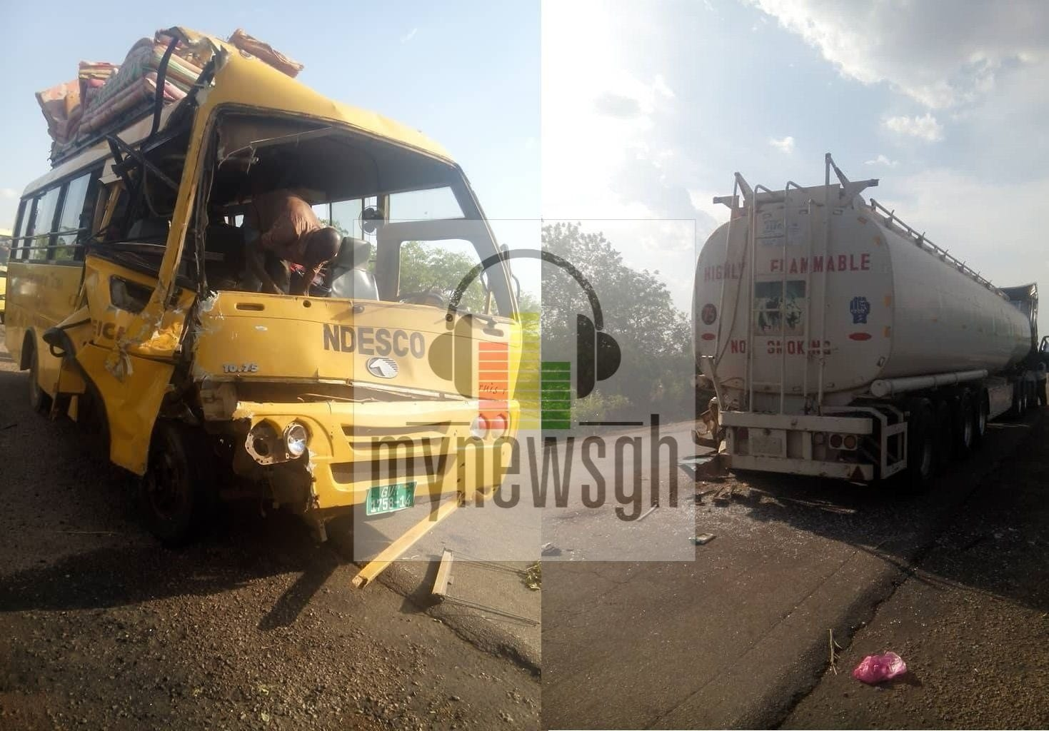 Students of Ndewura Jakpa SHS involved in an accident