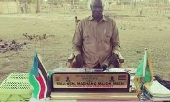 Under-tree Governance: South Sudan's Gok State Governor works under a tree