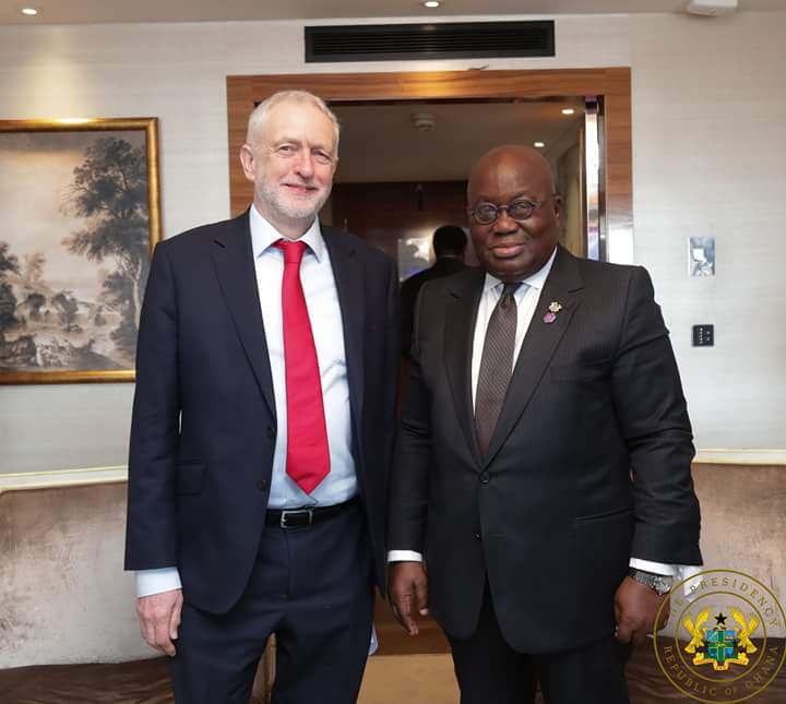 Akufo-Addo meets Jeremy Corbyn, discusses shared values, vision; invites Corbyn to Ghana
