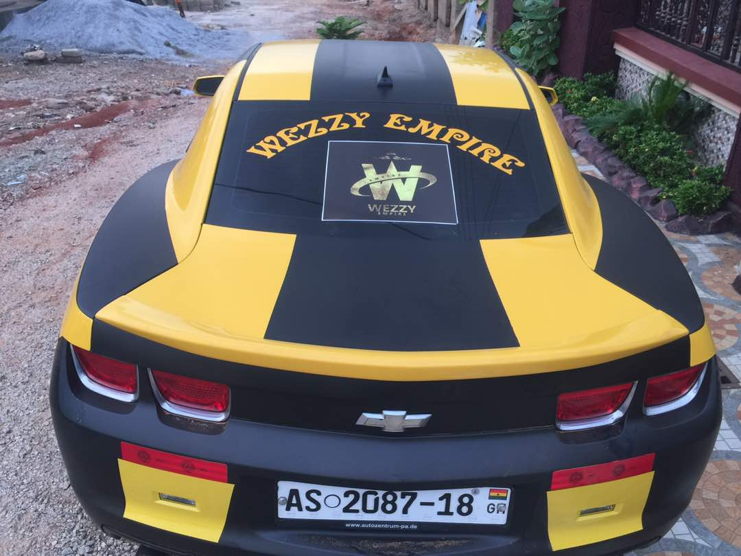 PHOTOS: See Ghanaian Actor Lilwin's latest 'toy', Chevrolet Camaro 2018 model
