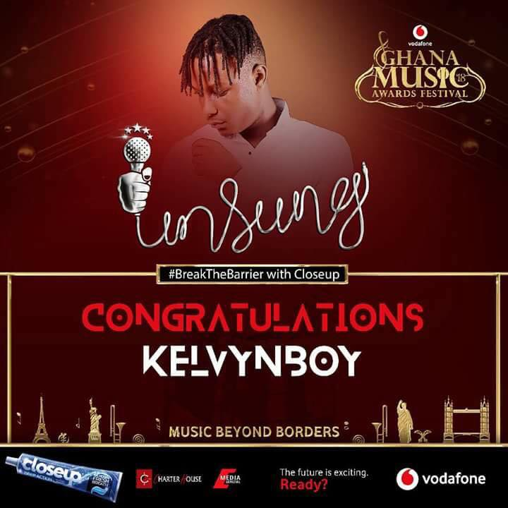 KelvynBoy wins VGMA 2018 unsung category