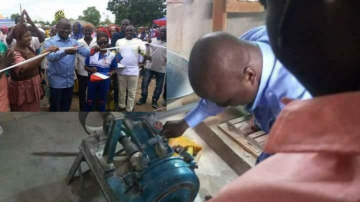 Deputy Chief of Staff Commissions grinding mills and school blocks in West Gonja