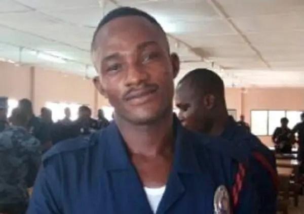 The deceased Policeman