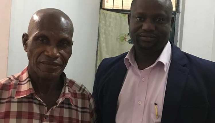 Mr Alex Kurankye (left) with Stephen Zoure (Right) of MyNewsGh