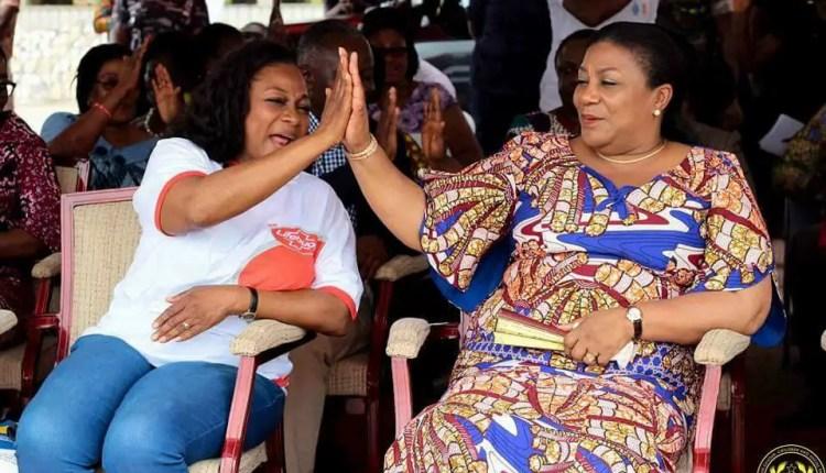Madam Otiko Afisa Djaba (left) with First Lady Rebecca Akufo-Addo (Right)