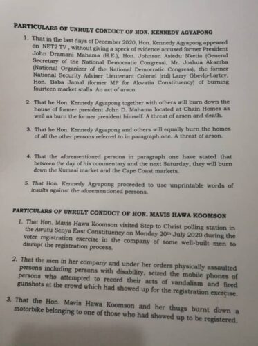 More Troubles For Kennedy Agyapong, Hawa Koomson As Fresh Petition Hits Parliament (FULL DOCUMENT) 2