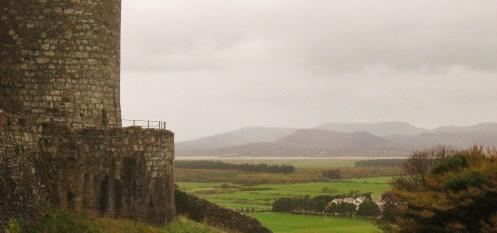 Harlech Castle mountains