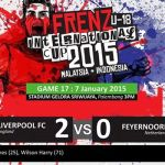 Full result frenz cup u18- liverpool (england) vs feyernoord (netderlands) 7.1.2015