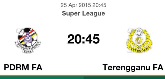 terengganu vs pdrm liga super 2015, pdrm, pdrm vs terengganu 25.4.2015