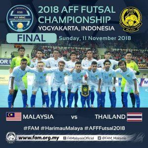 futsal final malaysia 2018