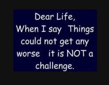 not a challenge