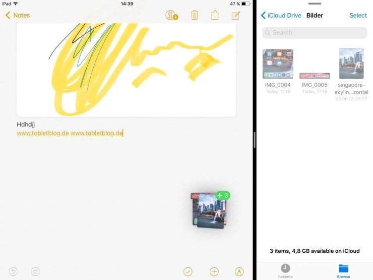 iOS 11 Drag and Drop