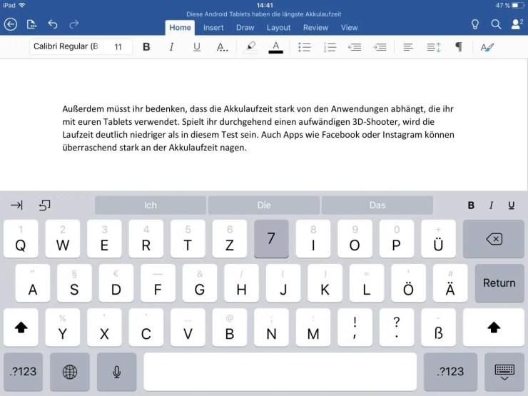 iOS 11 Keyboard