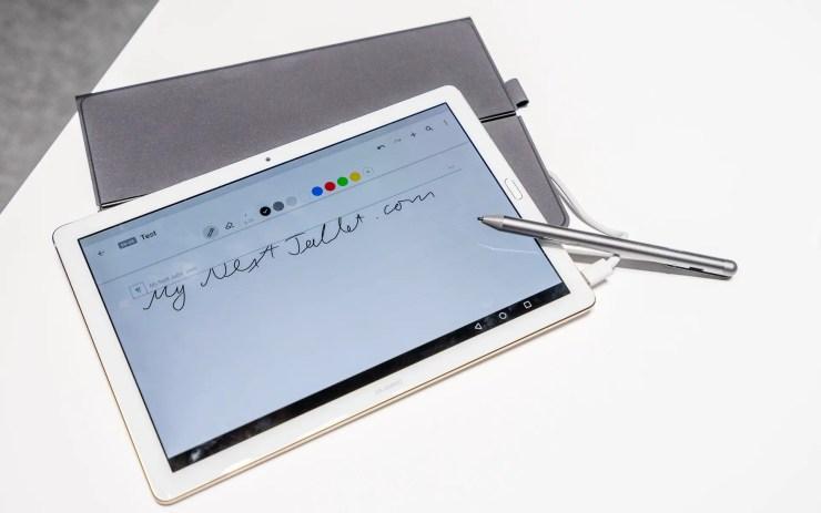 Huawei MediaPad M5 Pro with stylus