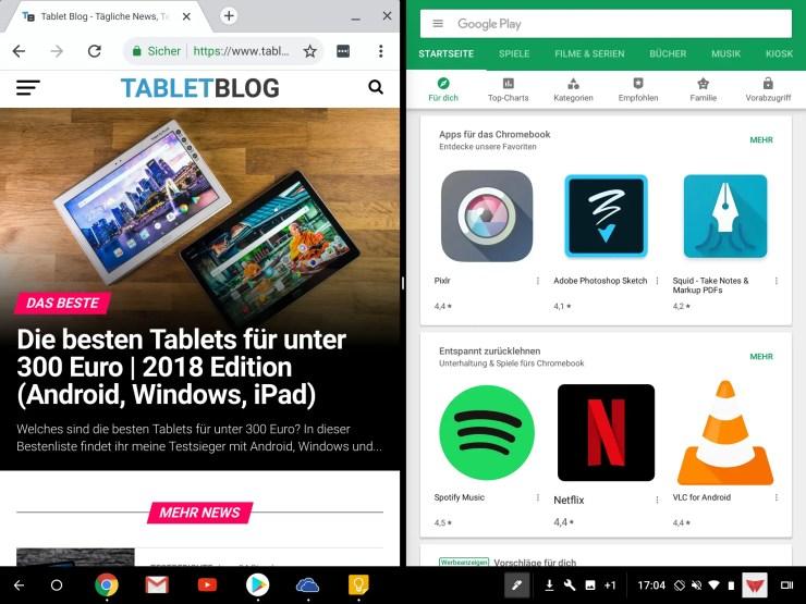 Acer Chromebook Tab 10 multitasking