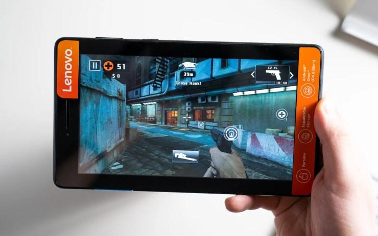 Lenovo Tab E7 gaming test