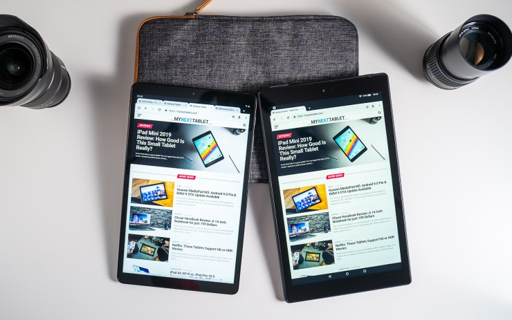 Samsung Galaxy Tab A 10.1 vs. Amazon Fire HD 10 Display