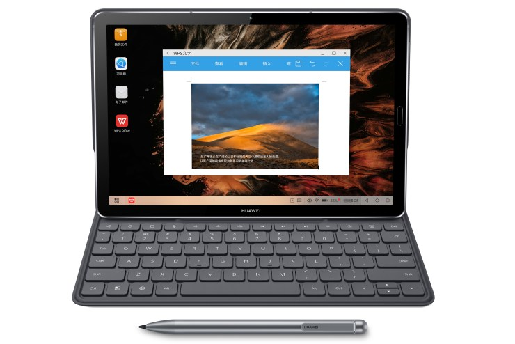 Huawei MediaPad M6 with M Pen Lite and keyboard
