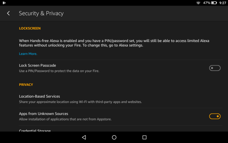 Amazon Fire Install App From Unknown Source