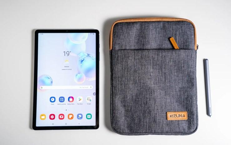 Samsung Galaxy Tab S6 with KIZUNA tablet stand