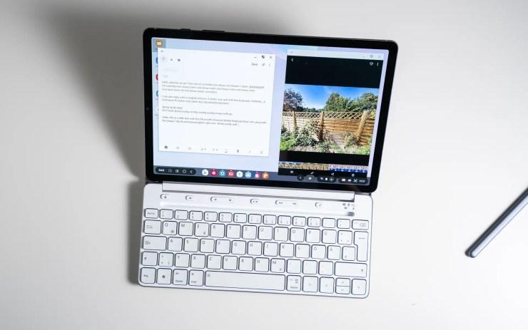 Samsung Galaxy Tab S6 with Microsoft Universal Mobile Keyboard