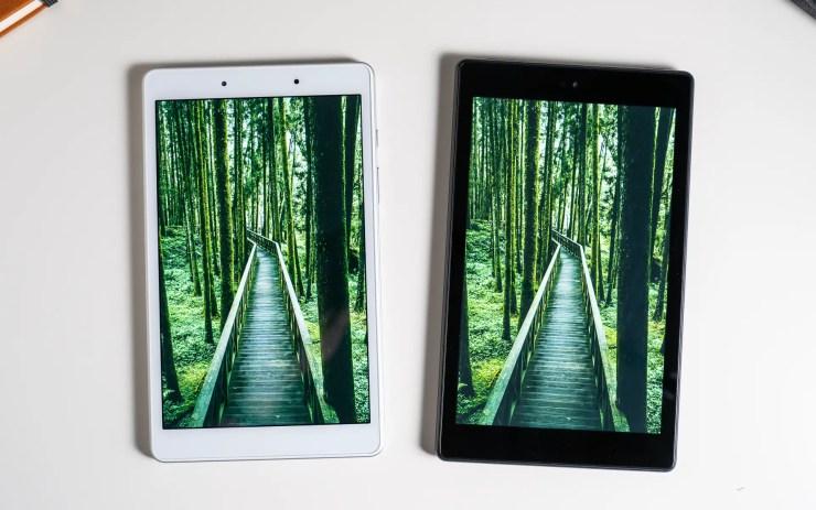 Samsung Galaxy Tab A 8.0 vs Amazon Fire HD 8 display