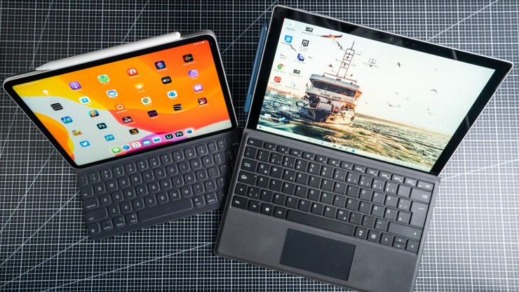 Microsoft Surface Pro 7 vs. Apple iPad Pro Comparison