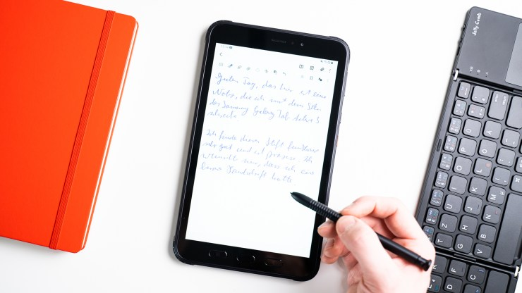 Samsung Galaxy Tab Active 3 handwriting