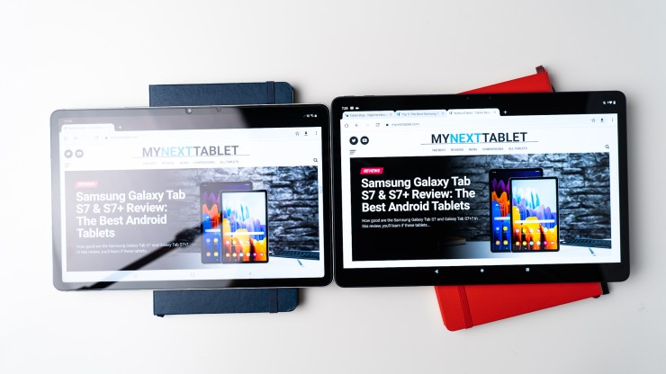 Lenovo Tab P11 Pro vs Samsung Galaxy Tab S7 display