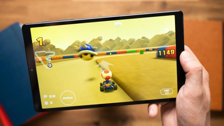 Samsung Galaxy Tab A7 Lite Super Mario Kart