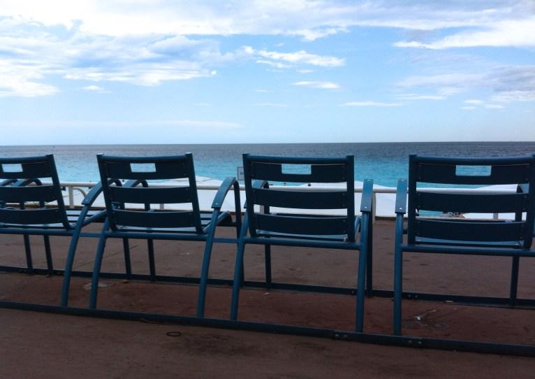 Nice Les chaises bleues Plage Promenade des Anglais