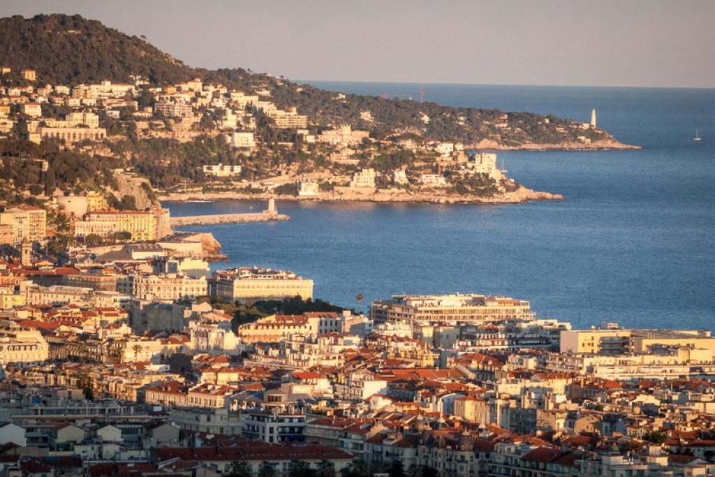 The city of Nice seen from the hills