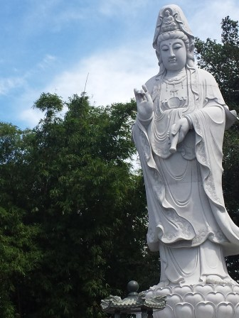 Buddha Statue at the entrance/parking area
