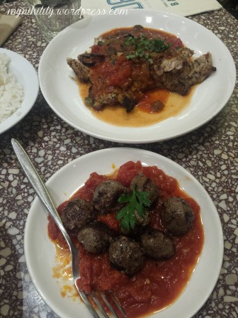 Angus Meatballs and Grilled Chicken Provencal