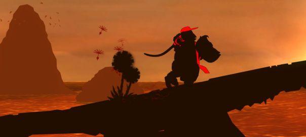 donkey kong country returns sunset