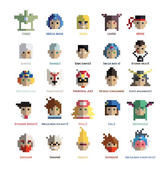 capcom 8 bit characters
