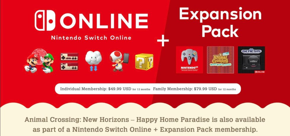 Nintendo Switch Online + expansion pass
